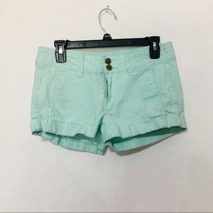 Express seafoam shorts